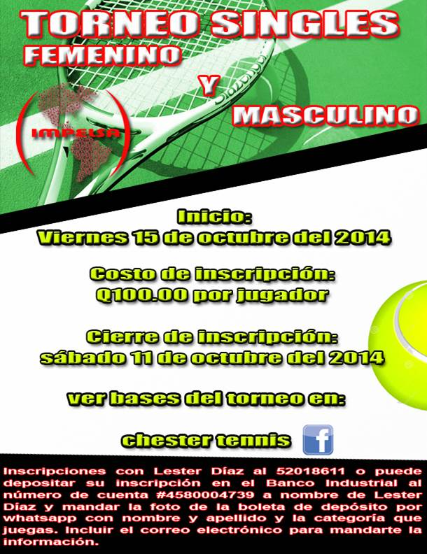 Torneo Chester Tennis
